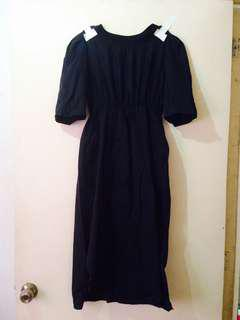 Stylenanda Mesh X Panel Black Dress