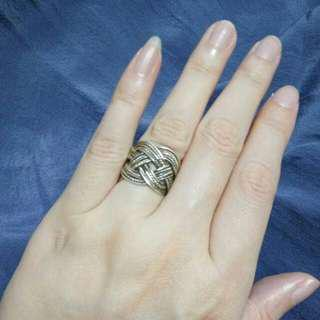 925 silver woven ring