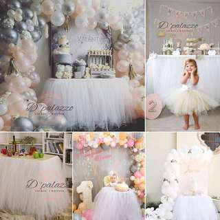 Tutu gauze dress Tulle Table Skirt Reception Table Wedding Birthday Party Decor