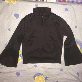Collar Top Black