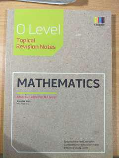 mathematics topical revision notes o level