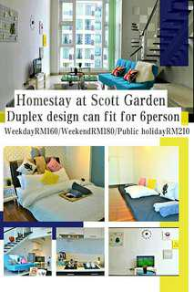 Homestay at Scott garden(can fit for 6person)