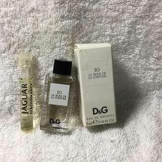 🚚 D&G 10 時尚玩家(命運之輪)小香水+積架非凡試管香水