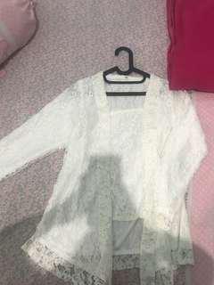 outfit kondangan kebaya kutu baru putih