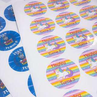 Customise sticker label