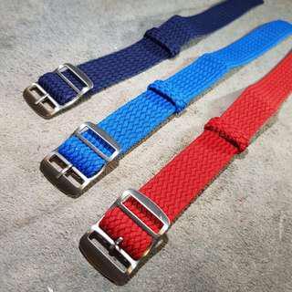20mm 22mm Woven Perlon , Weave Wrist Watch Nato Strap