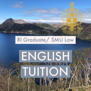 English 1-1 Tuition by Law SMU student/ Raffles JC Graduate