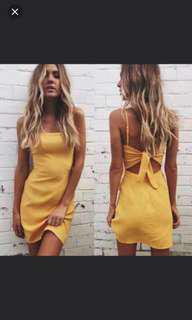 Brandy Melville Straight Neck Dress