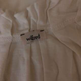 WILFRED WHITE COTTON SLEEVELESS BLOUSE