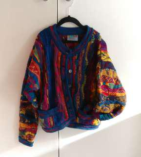 COOGI multi coloured Wool Cardigan | Vintage | Size SS