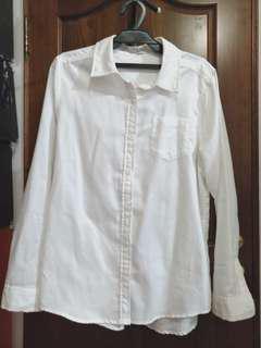 全新🆕長袖白襯衫