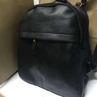 文青背包 黑色實用背包 書包 皮包 女包 backpack