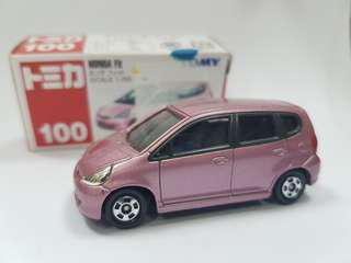 SALES! TOMY TOMICA NO.100 HONDA FIT JAZZ PINK CAR RARE #under90