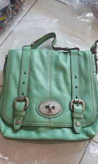 Fossil Green Handbag and Sligbag