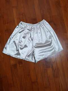 🚚 Champagne gold metallic hologram shorts
