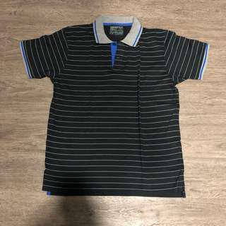 Springfield Polo Shirt stripes Black / Gray