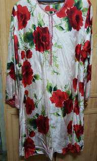 Pure Silk Baju Kurung Sutera XL