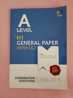 A-level General Paper Ten Year Series (Yearly)