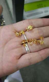 .48 grams saudi earrings