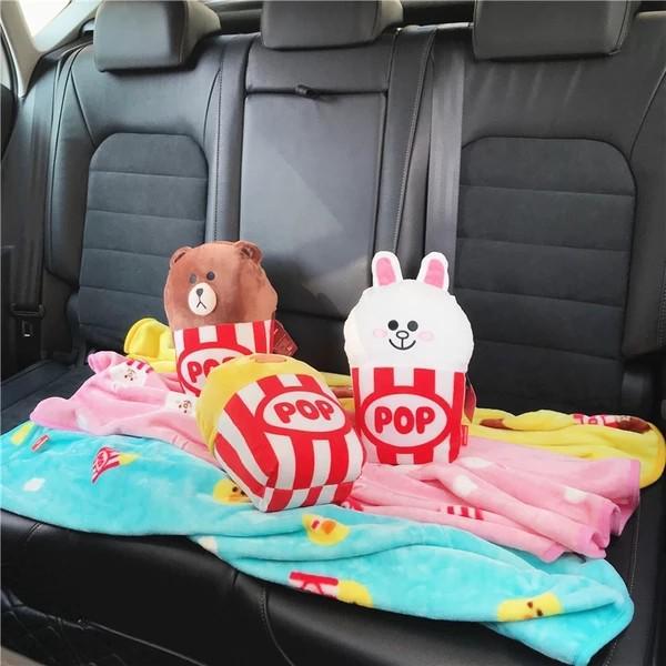 熊大🐻🐰🐥攬枕+ 珊瑚毛毯