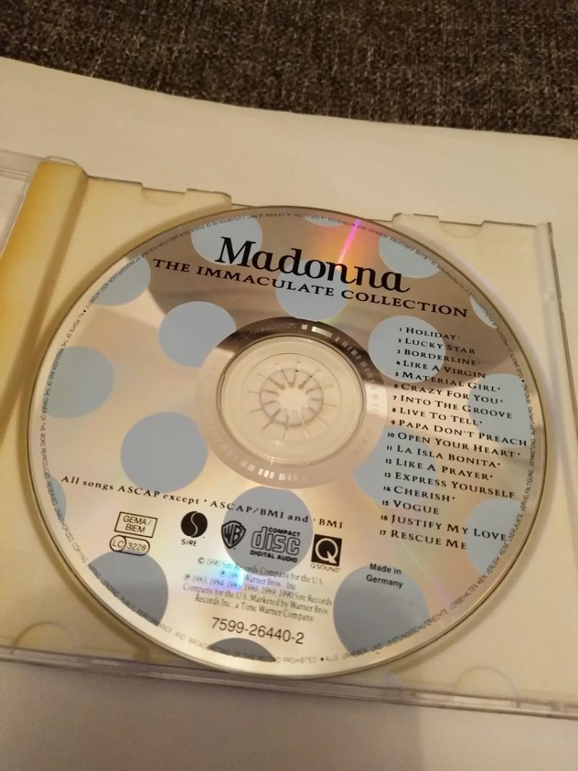 德版 麥當娜 Madonna THE IMMACULATE COLLECTION CD MADE IN GERMANY 欠歌書