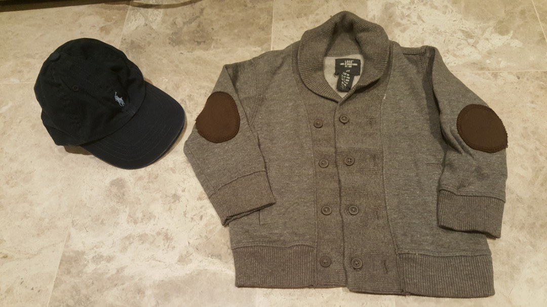5eb48cf12 Baby Boy Bundle Ralph Lauren Polo Cap and Smart Cardigan from H M ...