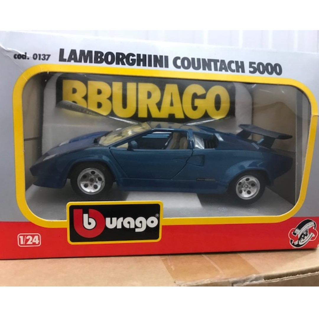 Bburago 1 24 Lamborghini Countach 5000 Die Cast Metal With Plastic