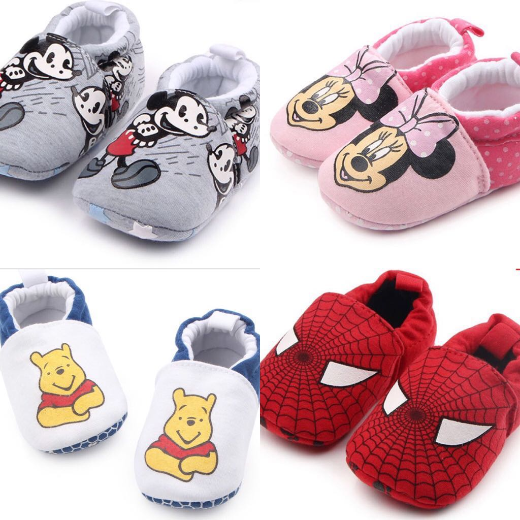 52cca300fddc BN Baby Boy Girl Cartoon Character Soft Anti Slip Crib Shoes ...