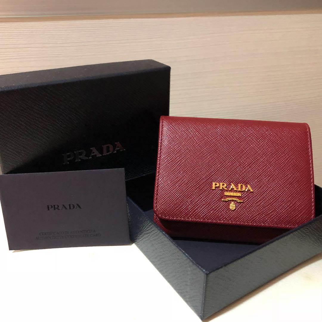 6619b119 Brand new Prada Saffiano Leather Short Trifold Clasp Wallet in ...