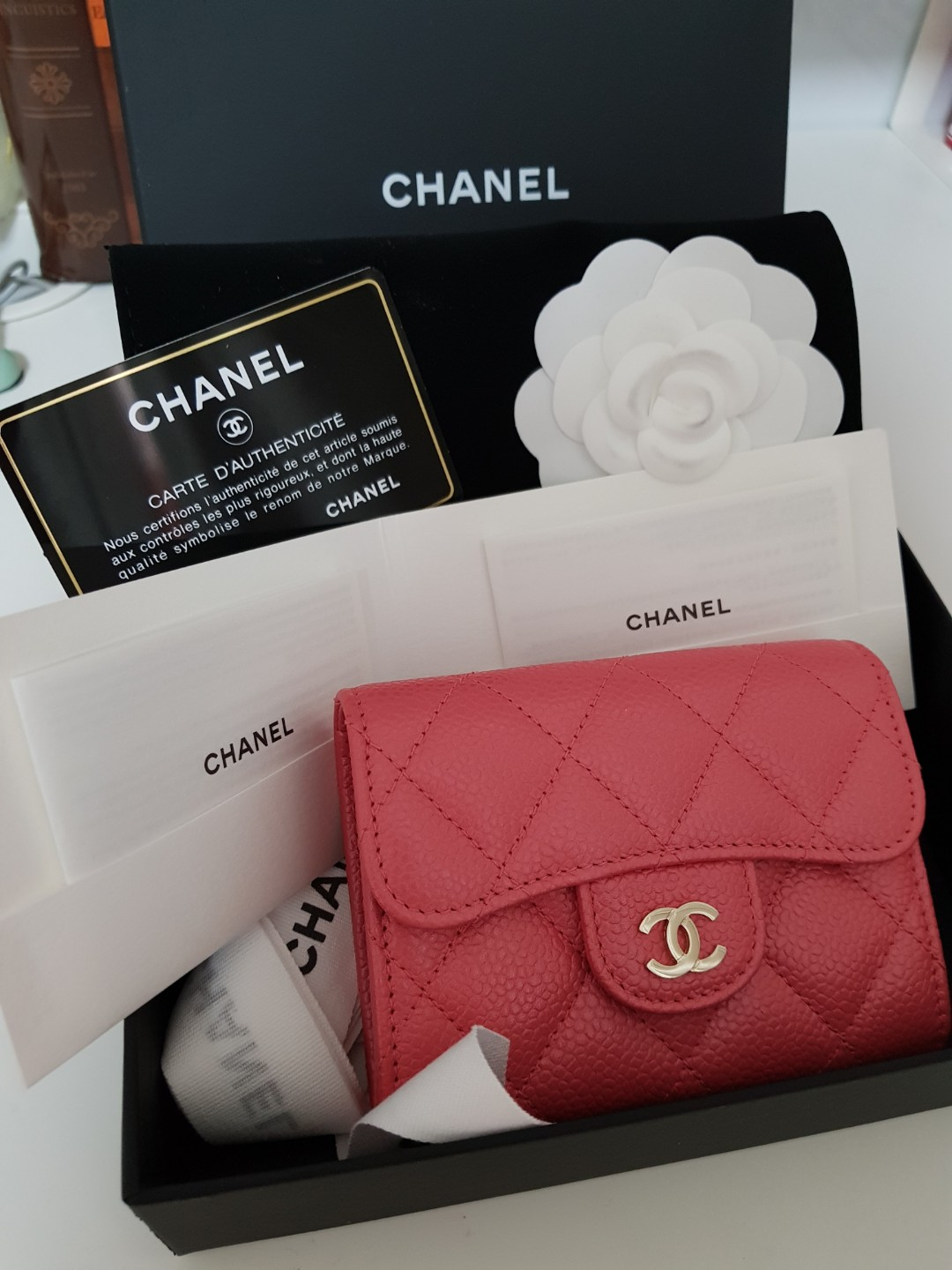19caf490762e Chanel XL Cardholder / Coin Purse / Wallet in Rose Pink, Luxury, Bags &  Wallets, Wallets on Carousell