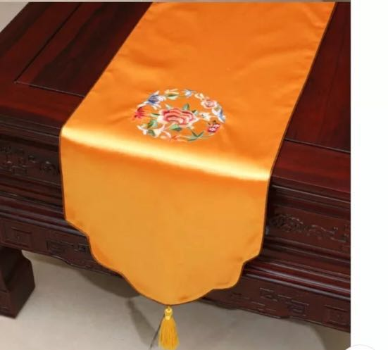 Chinese Style Silk Table Runner Gift For Birthdayhouse Warming