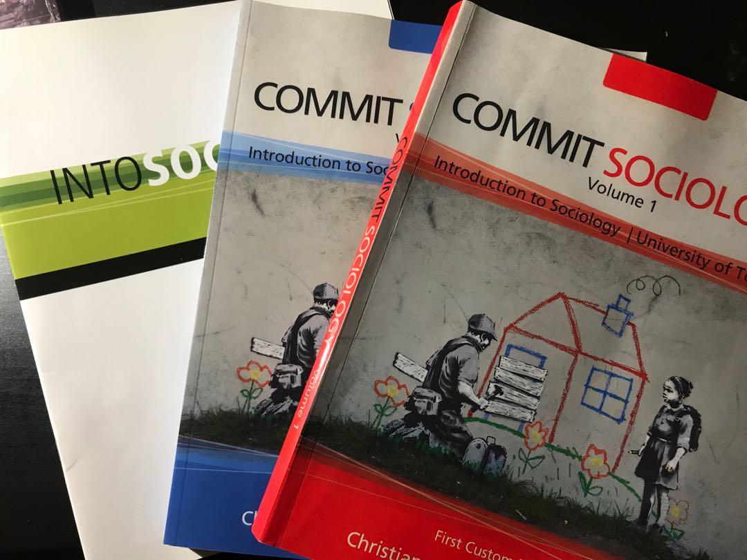 Commit Sociology: Intro to Sociology VOL. 1 &2 + INTO SOC. insert (SOC101)