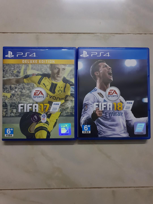 Fifa 18 with Fifa 17