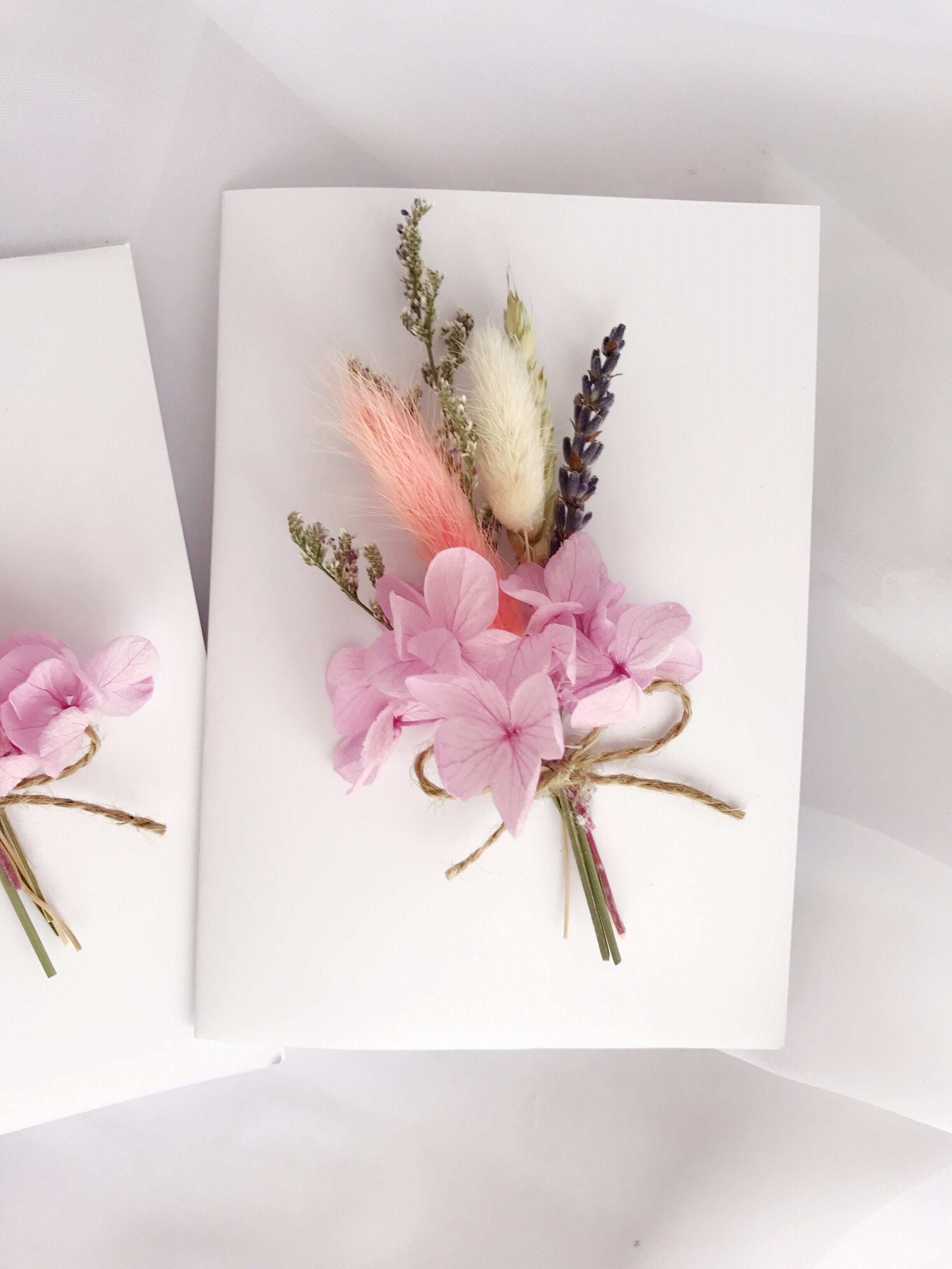 Flower card/ gift card/ greeting card/ dried flower gift card ...