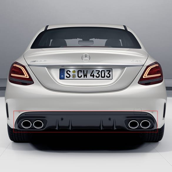 2019 Mercedes Amg C43: Genuine Mercedes W205 C43 AMG Sports Diffuser For 2019