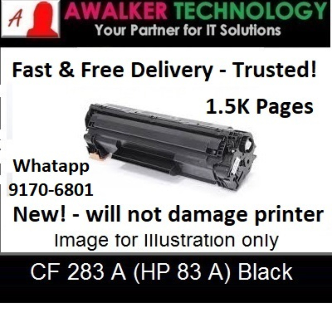 Hp83a Cf283a Black Compatible Laser Toner Cartridge 1500 Pages Hp 83a Base On 5 Coverage Remanufactured Printer Models Laserjet Pro Series M127fn M127fw M125a