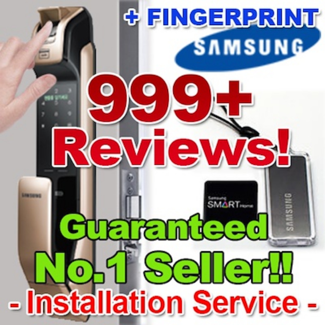 [★IN STOCK!_999+Reviews Seller!★] SAMSUNG FINGERPRINT DIGITAL DOORLOCK EZON  SHP-DP930/DP710 Lock