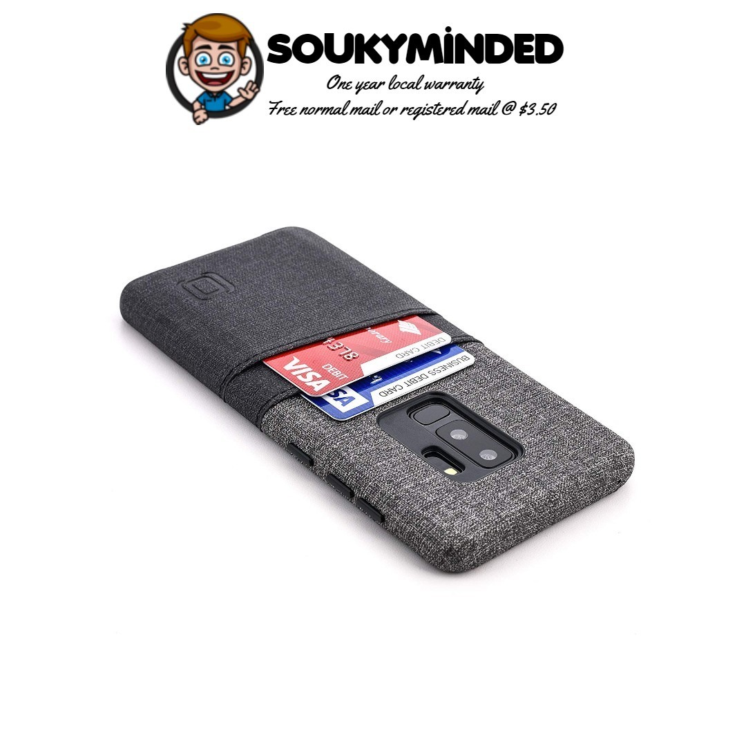 promo code af97a 91f2f [IN-STOCK] Dockem Luxe Card Case for Samsung Galaxy S9 Plus - Minimalist  Synthetic Leather Wallet Case with UltraGrip Twill Canvas Styling, Slim ...