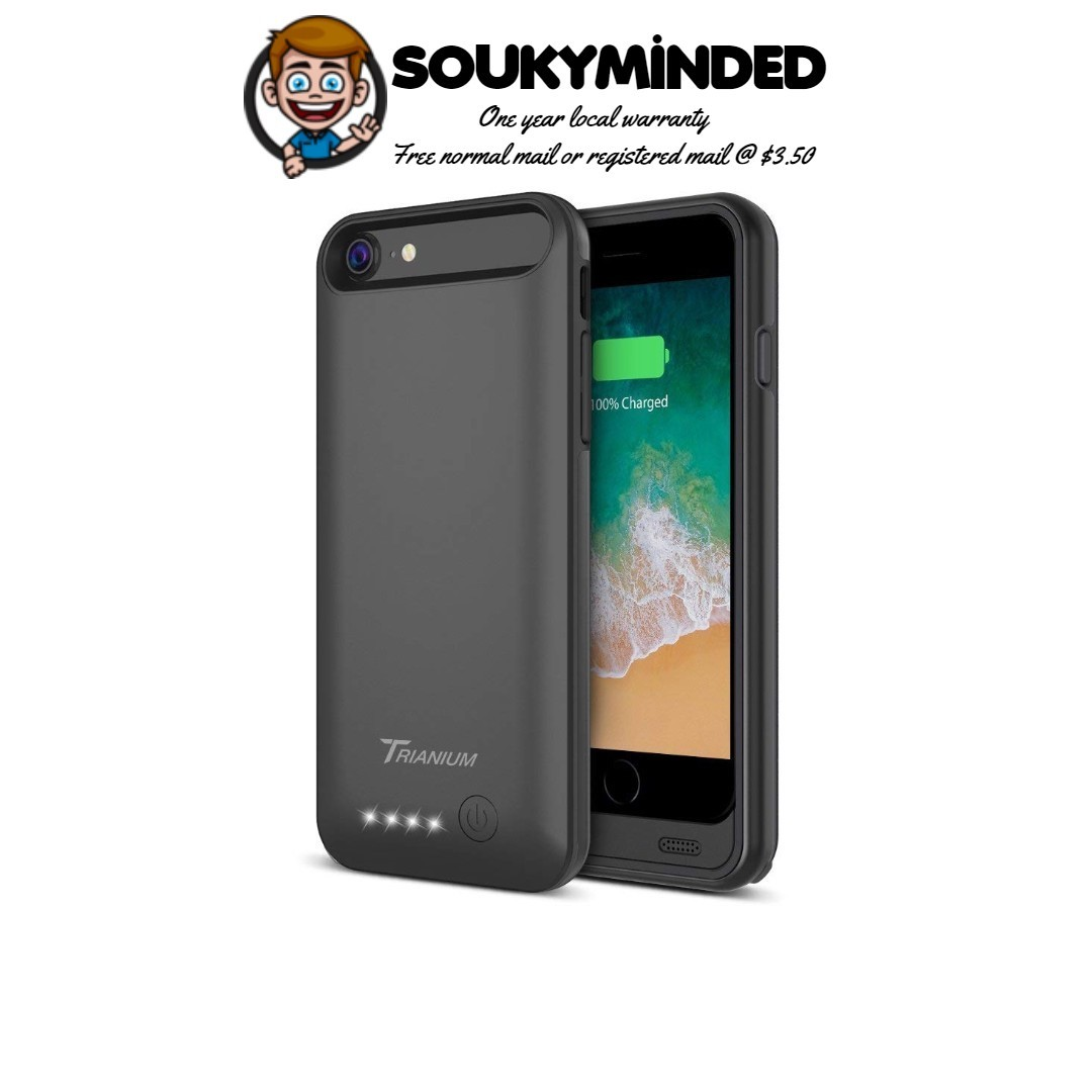 """official photos 37043 fb32d [IN-STOCK] iPhone 8 / 7 Battery Case, Trianium Atomic Pro 3200mAh Extended  iPhone 7 8 Battery Portable Charger for iPhone 7, iPhone 8 (4.7"""") [Black]  ..."""
