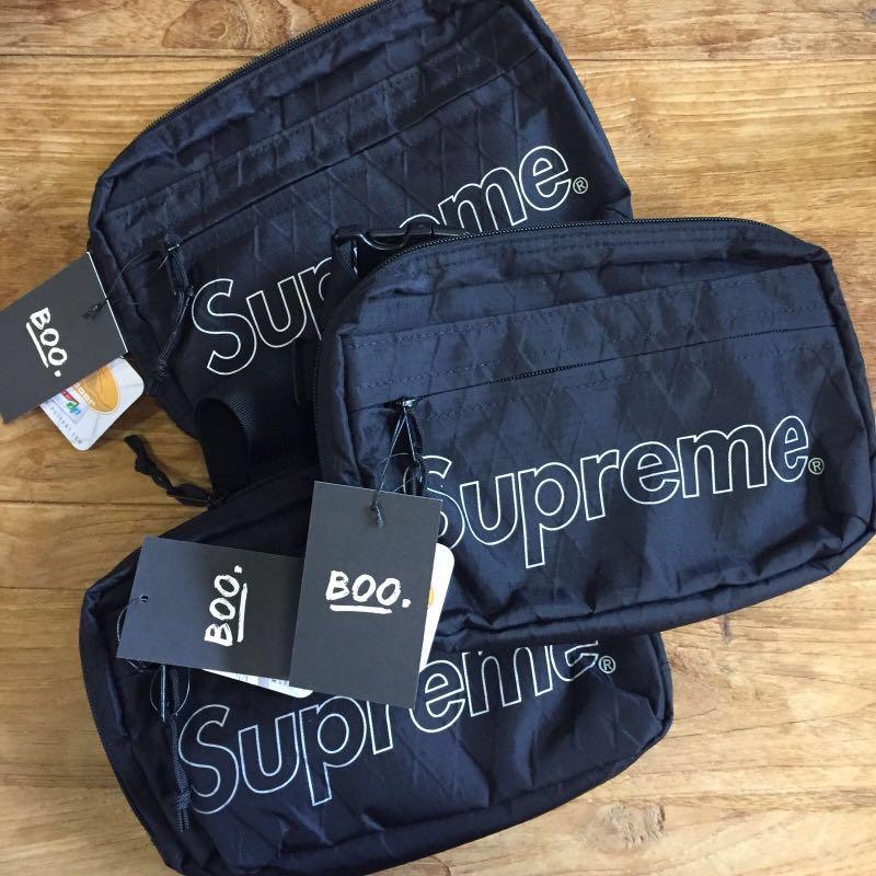 e5604de279f (INSTOCK) Supreme FW18 Shoulder Bag | Black, Women's Fashion, Bags &  Wallets, Sling Bags on Carousell