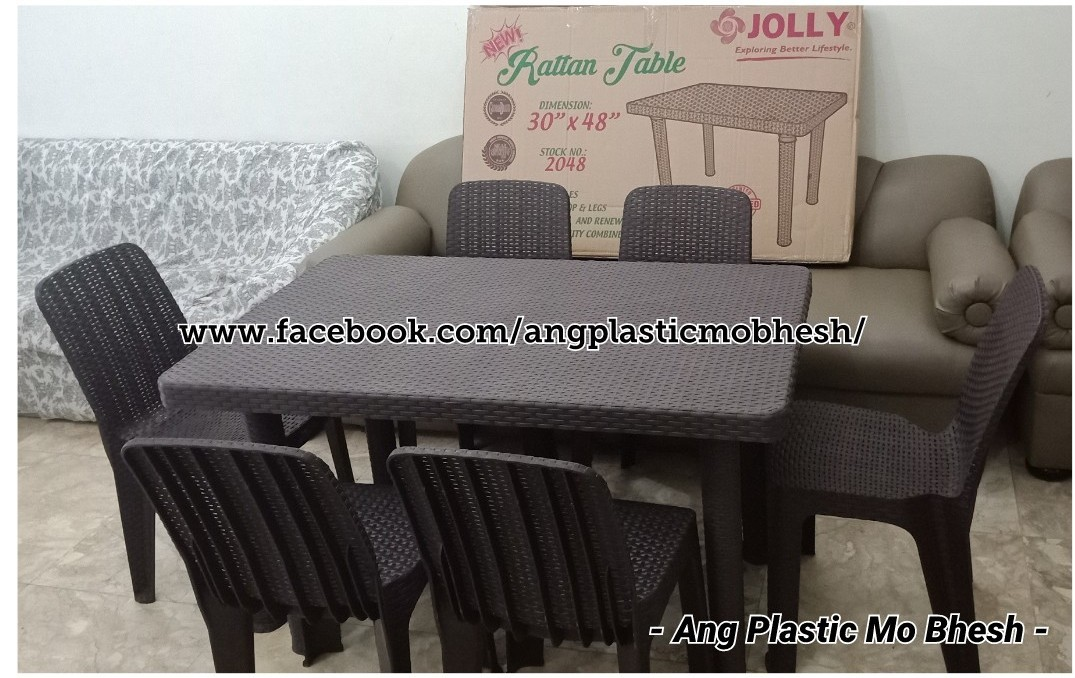 Jolly Plastic Rattan Home Furniture On Carousell