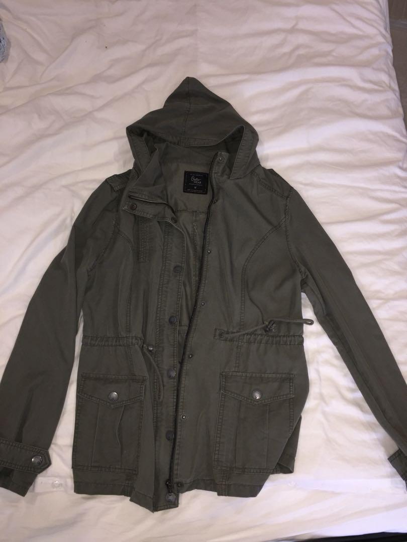 Khaki Coat - Cotton On