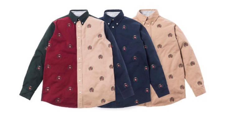 5eb38589 Kith x Tommy Hilfiger twill crest button up shirt, Men's Fashion ...
