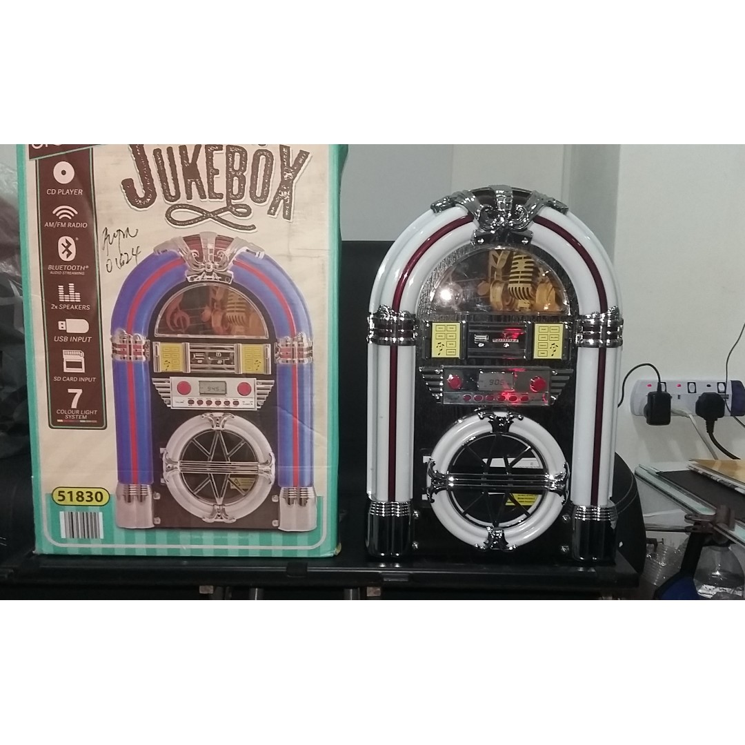 Mini Jukebox with Bluetooth, Electronics, Audio on Carousell