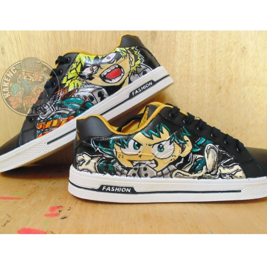 outlet store 8c37f de299 Hand Character Hero Mens Fwx0xsw1 Painted My Academia Fashion Shoes ww1Fxt