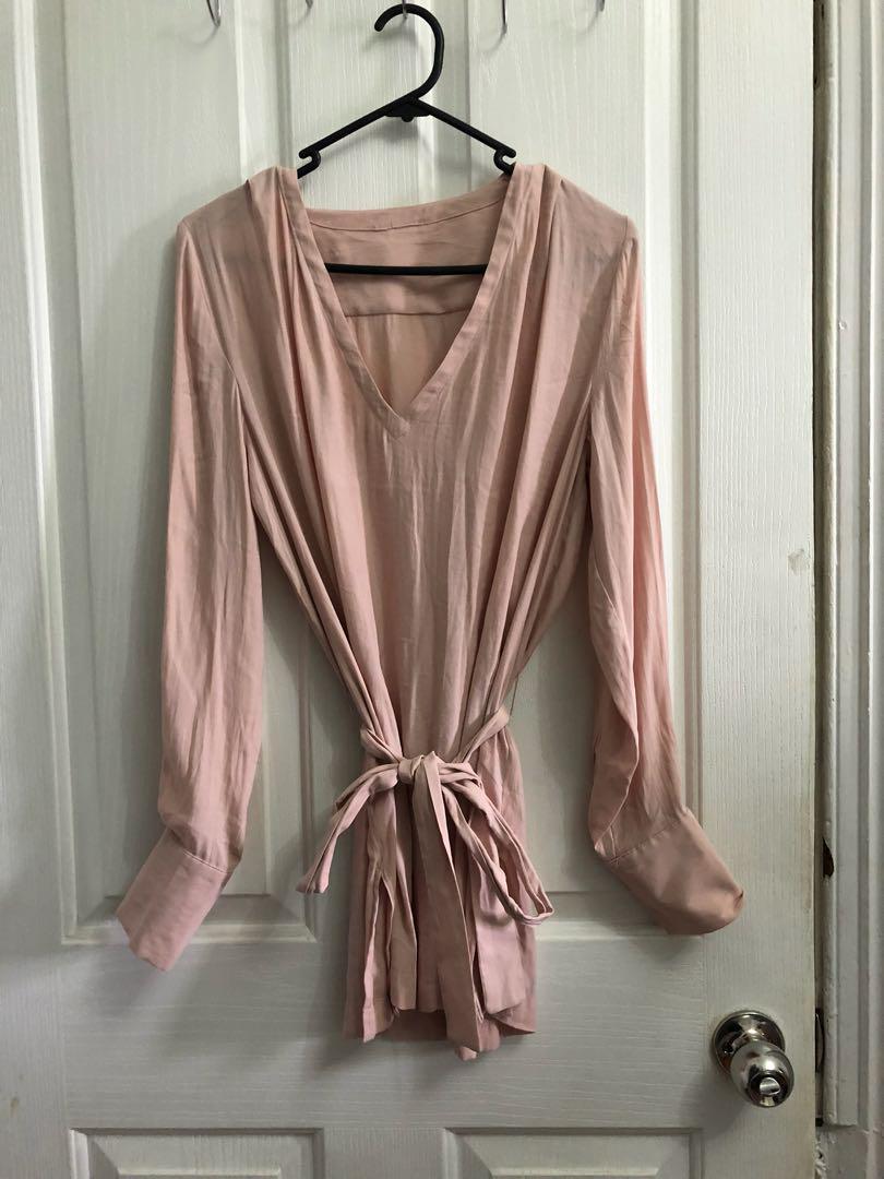 Pink long sleeves top