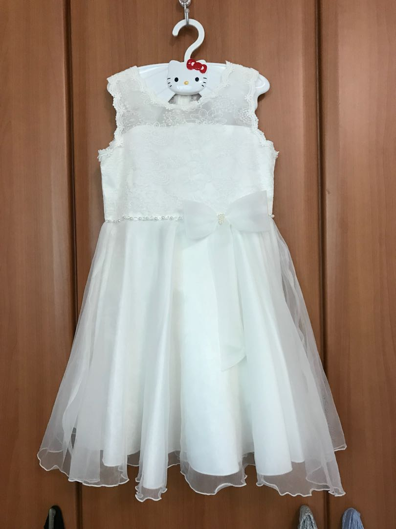 Pl Off White Flower Girl Dress Babies Kids Girls Apparel 4 To