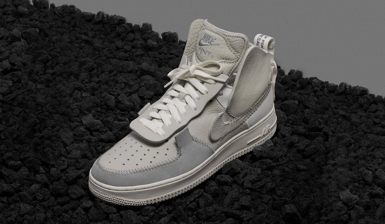 low priced 80e95 9c61d PSNY x Nike Air Force 1 High (Grey), Men s Fashion, Footwear, Sneakers on  Carousell
