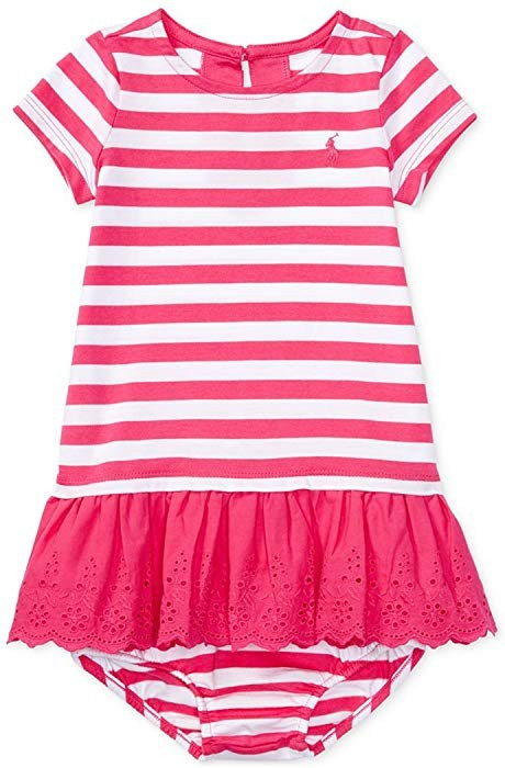 8ba5f9e5e Ralph Lauren Baby Girl Striped Eyelet Dress   Bloomer Set