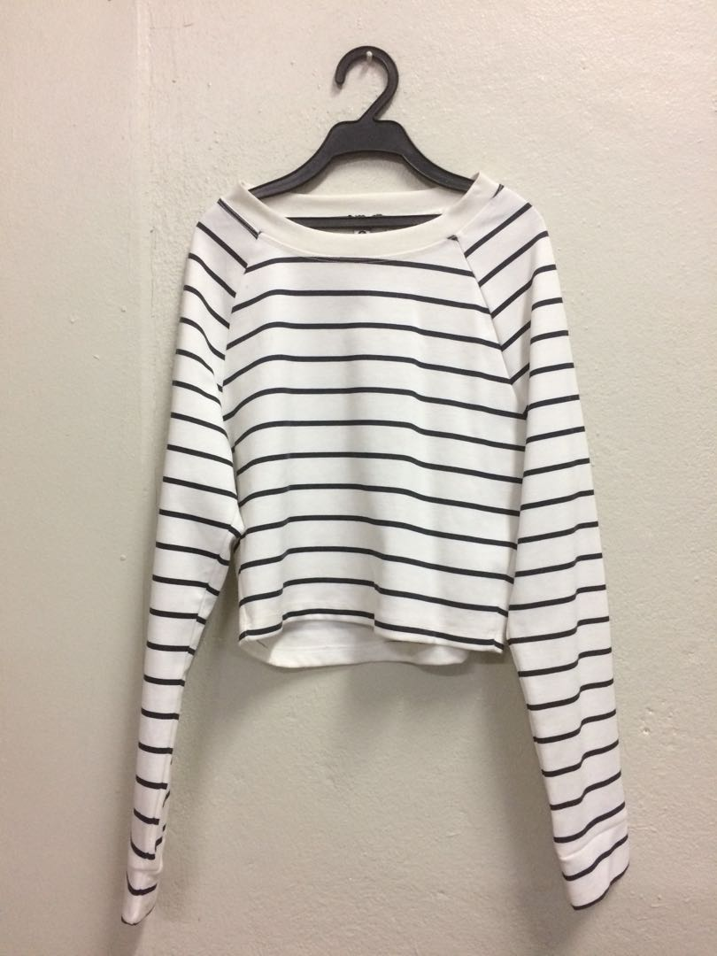 8d67572ec87 Stripes Crop Top, Women's Fashion, Clothes, Tops on Carousell